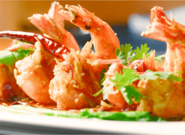 The Mayura restaurant Kerla prawns